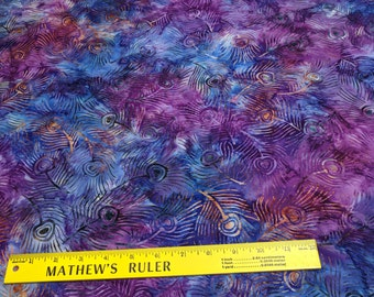 Purple Plume Batik Cotton Fabric from Michael Miller