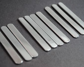 """Ten 1100 1/4"""" Wide 14g Aluminum Ring Blanks - Mixed Sizes! Small, Medium, and Large - Pack of Ten"""