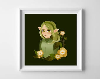 Legend of Zelda Saria Sage of the Forest Poster 8x8""