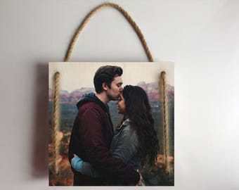 Anniversary gifts for boyfriend, anniversary gifts for men, anniversary gifts for husband, wedding gifts for couple, photo on wood