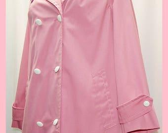 Vintage 1960s Mod Pink Raincoat