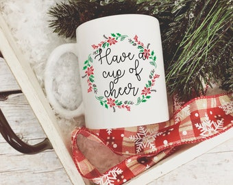 Merry christmas yall mug/  merry christmas/  christmas mug/  plaid coffee mug/  christmas coffee mug/  merry christmas