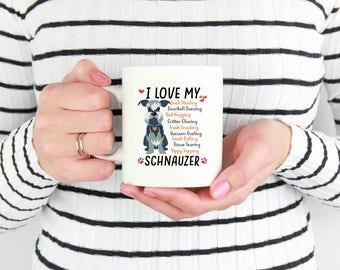Schnauzer Mug, I Love My Schnauzer Coffee Mug, Schnauzer Lover,Schnauzer Coffee Cup,Schnauzer Mom, Gift For Schnauzer Lovers, Schnauzer Gift