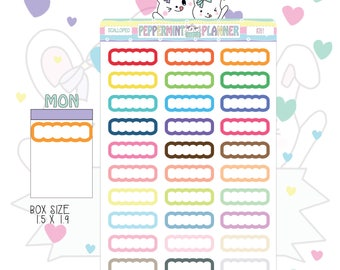 Scalloped Planner Stickers --- #216