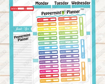 Work headers --- Planner stickers --- 700