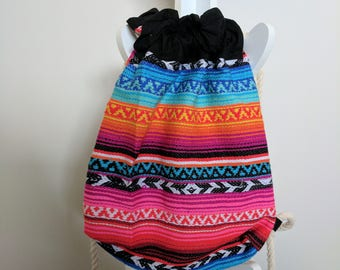 Poncho Drawstring Bag