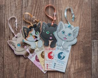 Seasonal Kitty Bookmarks (pack of 4)