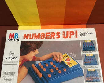 Vintage Numbers Up Game MB Games Made in West Germany 1977 Perfection Game A Battle against the Clock