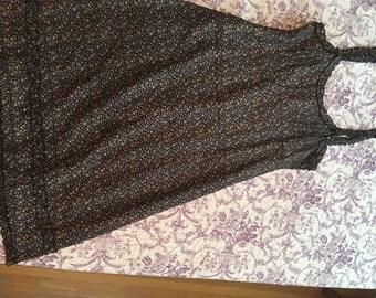 Anna Sui 90s silk floral slip dress