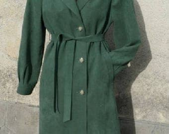 Green alkataran coat removable lining creating ESMAR PARIS size 40/L/3