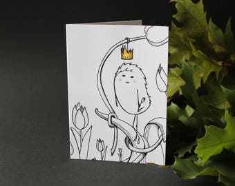 Almost Crowned - Greeting Card - Blank Card - Magical - Fairy Tale - Nursery - Tulips - Dutch - Design