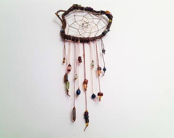 Unique Woodland Gemstone Dreamcatcher