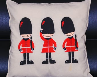 Handmade British Royal Gaurds Cushion Cover