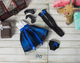 "Monster High clothes - Monster High outfits - EAH outfits - Monster High dress ""Blue cell"""