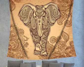Elephant decor,Tapestry decor,Indian tapestry,Indie tapestry,Bohemian tapestry,Boho wall decor,Hippie tapestry,Bohemain elephant,boho wall