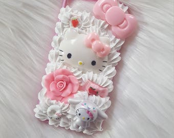 kawaii kitty decoden case for iphone 7 plus bumper case