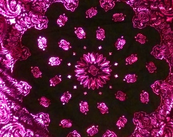 Foil Bandana - Pink