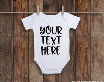 Custom Baby Onesie, Personalized Onesie, Baby Onesie, Baby Shower Gift, Baby Gift Idea, Newborn Gift, Baby Boy, Baby Girl, Custom Bodysuit