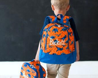 Preschool Backpack, Monogrammed Backpack , Personalized Backpack, Dinosaur Backpack