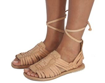 Tejido Sandals - Tan