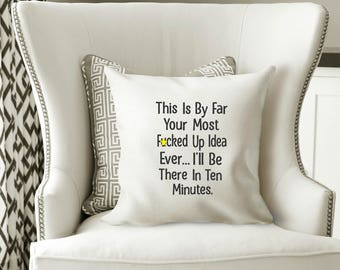 Funny Sarcastic Humorous Machine Embroidery Design Original Digital File Instant Download 5x7 Hoop Pillow Art