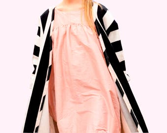 Pink silk baloon dress