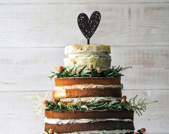 Heart silhouette cake topper,  Heart cake topper, custom engagement cake topper, anniversary cake topper, wedding cake topper, cake topper