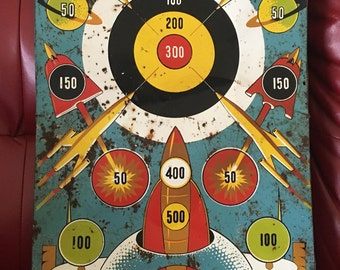 Vintage Tin Litho Space Target