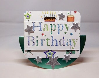 3D Wobbler Male Birthday Card - luxury quality UK - Dad/Son/Brother/Uncle/Nephew