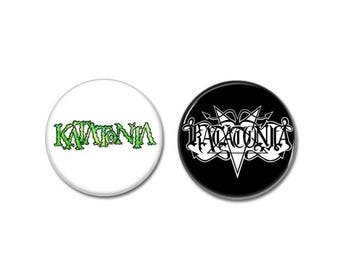 Katatonia band buttons set of 2! (badges, pins, doom metal, death metal, heavy metal)