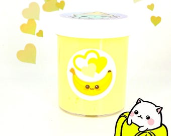 Banana Scented Butter Slime & Charm