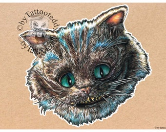 Grinsekatze - Cheshire Cat  - Fine Art Print - A4/A3