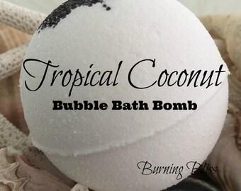TROPICAL COCONUT Bubble Bath Bomb,Bath Fizzie,Bubble Bar,Bubble Bath,Spa Bath Bomb