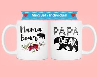 Papa bear mug, mama bear mug, new dad coffee mug, new dad mug, new mom mug, mamma and papa bear, mama bear papa bear mug, new dad gifts from