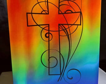 Abstract Cross - Greeting Card