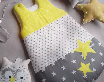 Sleeping bag PROMO yellow PATCHWORK 0-6 months