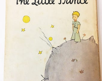 The Little Prince book.  Vintage book circa 1943.  Antoine De Saint-Exupery.  No later printings indicated.  Vintage Children's Book.