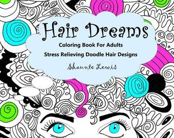 Hair Dreams Coloring Book
