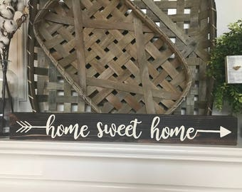 Home Sweet Home Arrow Farmhouse Rustic Sign
