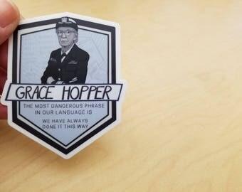 Grace Hopper Vinyl Sticker