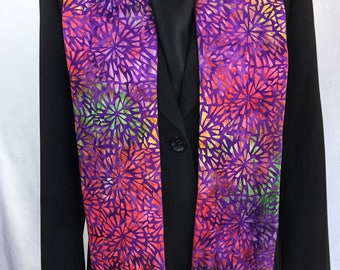 Clergy Stole, Batik Purple, Lent