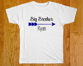 Big Brother Shirt - Personalized with Name - Matching Brother Shirts - Middle Brother Shirt - Little Brother Shirt - Shirts for Brothers