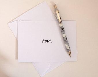 Hola Spanish 'Hello' Handmade Postcard Greetings Card Spain Hello Kawaii Cute Funny Foreign Language Europe Travellers Card