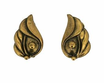Joseff of Hollywood 1950s Vintage Flower Bud Earrings