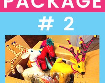 Woolly Amigos Pack # 2 - Save even more! Assorted selection. Fair Trade. Natural Wools. Ships from Minnesota, US. Over 12 years in business.