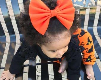Orange Pop Bow