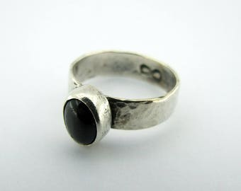 Hammered Sterling Silver Infinity Ring