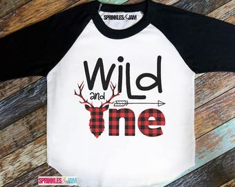 Wild and One Shirt, Wild One Birthday Shirt, 1st Birthday Shirt Boy, Wild and One, First Birthday Shirt Boy, Boys First Birthday Outfit
