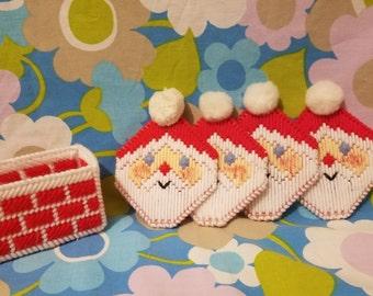 Santa Christmas Coaster Set-5pc
