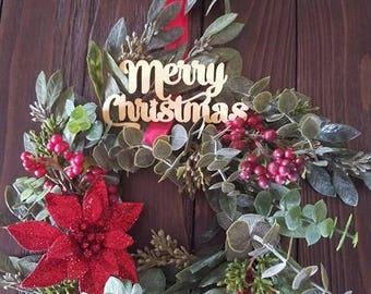 Double hanging wreath